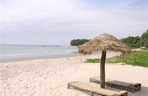 Empty beaches in the Gambia