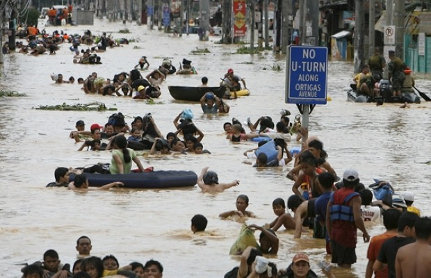 Flooding strikes the Philippines