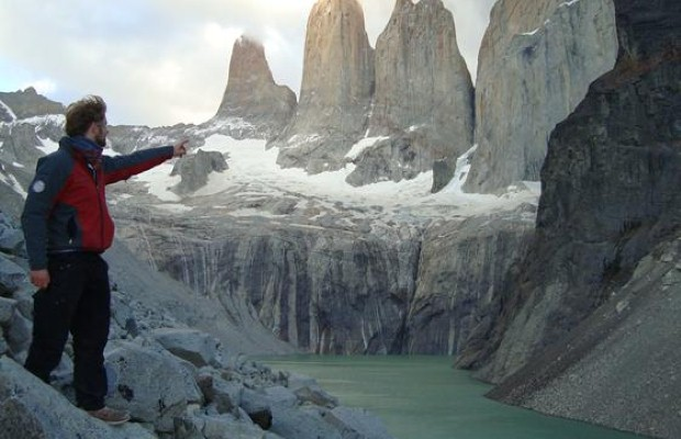 Greg in the  orres Del Paine Park