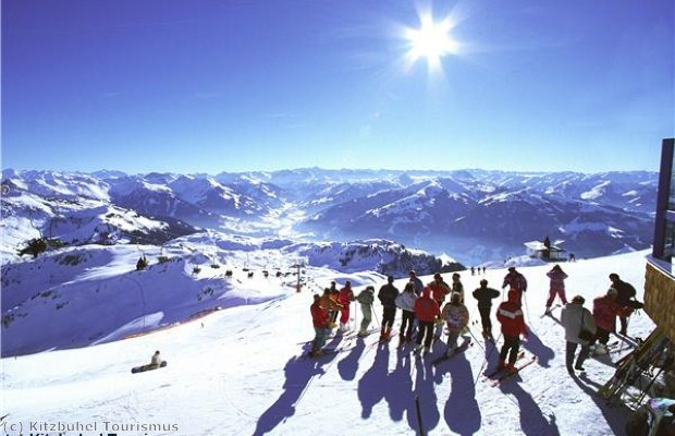 The Alps offer summer skiing.