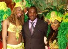 Brian Lara at the Trinidad & Tobago stand at World Travel Market 2010