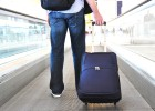 Airport passenger with luggage