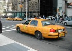 One of New York's famous yellow taxis
