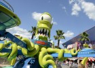 "Springfield features an outdoor attraction based on the show's ""evil"" alien duo, Kang & Kodos"