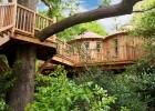 Fed up of hotels? Why not experience staying in a treehouse, like The Treehouse at Harptree Court in Somerset?