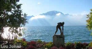 Montreux is located on the shores of Lake Geneva