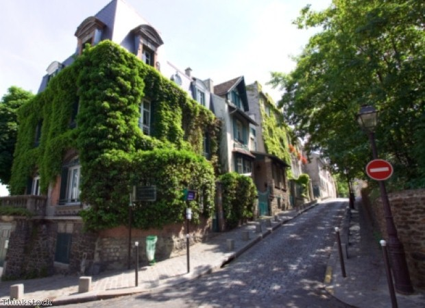 Le Marais is home to winding streets