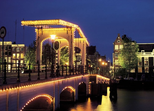 Magere Brug is a romantic landmark