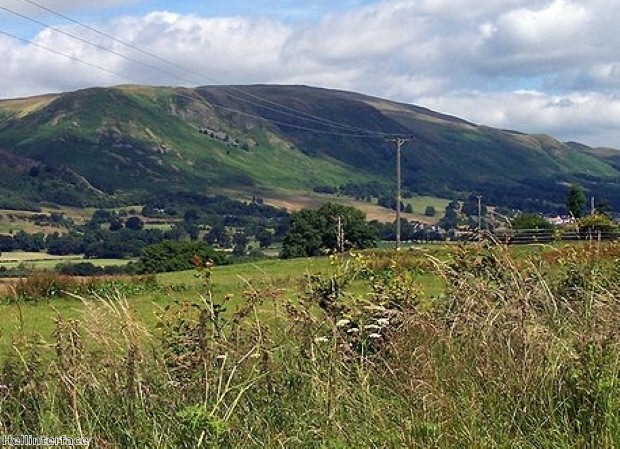 See the Ochil Hills from a Scottish castle