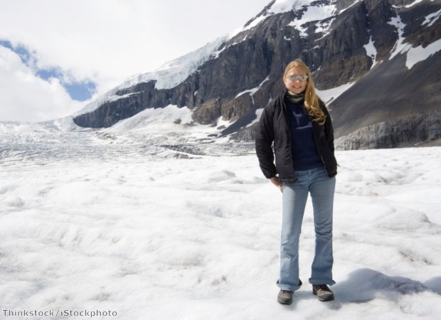 Walking on the Columbia Icefield