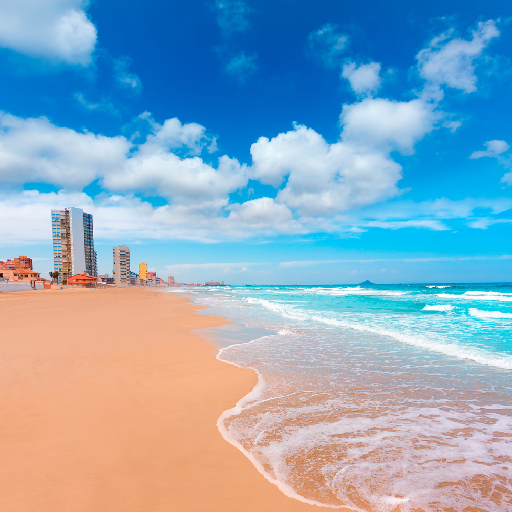 La Manga del Mar Menor beach in Murcia Spain